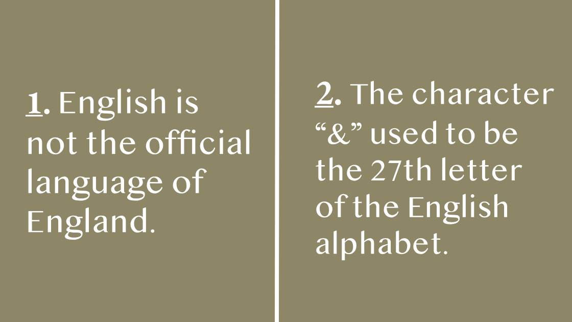 Interesting Facts About the English Language that You Didn't Know.