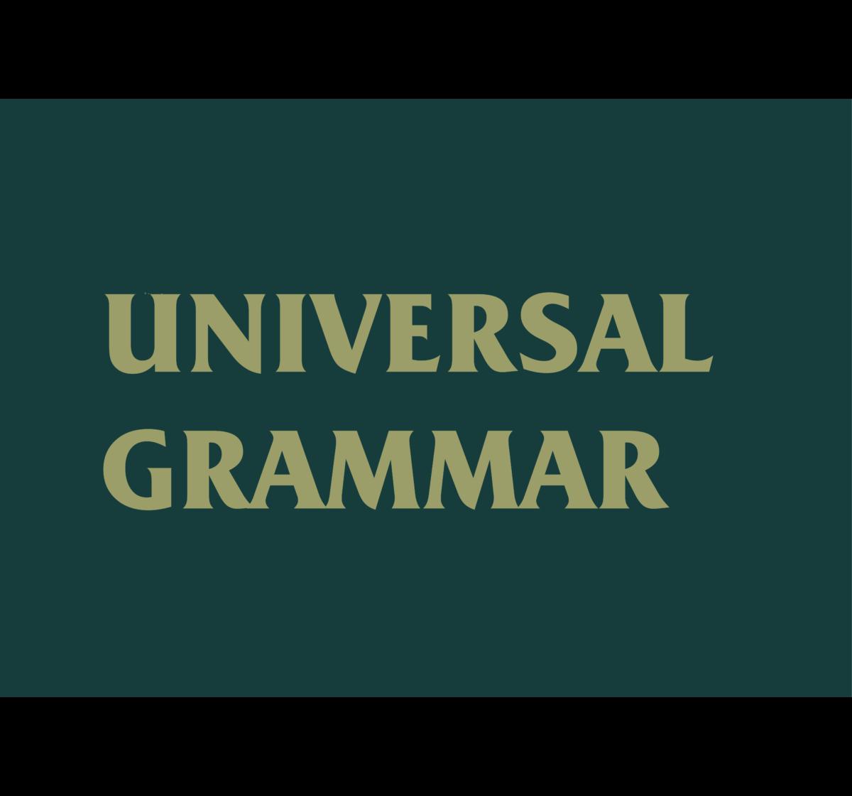 What is Universal Grammar?