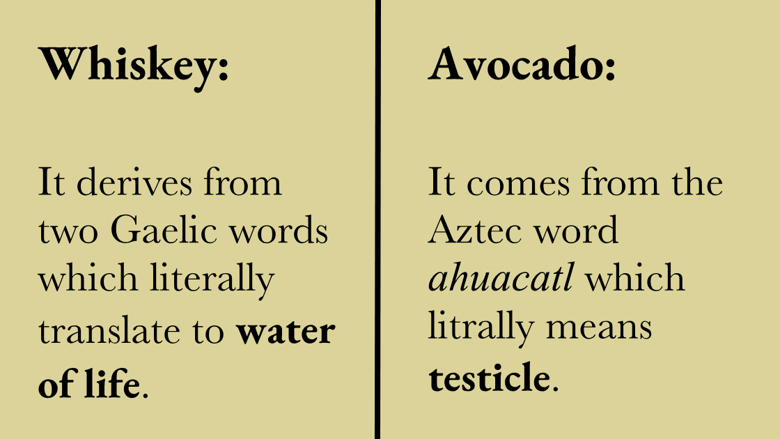 These Are The Words With The Funniest And Weirdest Origins.