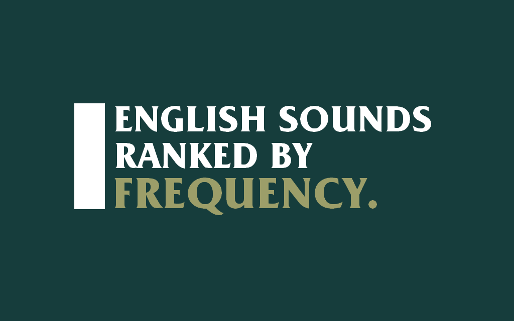 Most common sounds in spoken English.