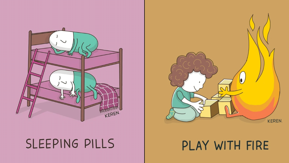 20 Clever And Funny Illustrations Showing The Literal Meanings Of Idioms.