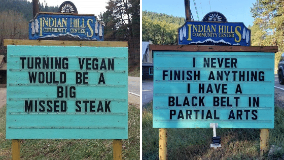 Guy In Colorado Is Putting The Funniest Signs, And The Puns Are Hilarious.